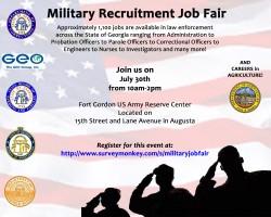 Military Recruitment Job Fair Flyer