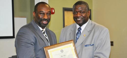 Calvin Brown (Left) Retires