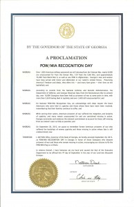 POW/MIA Day Proclamation