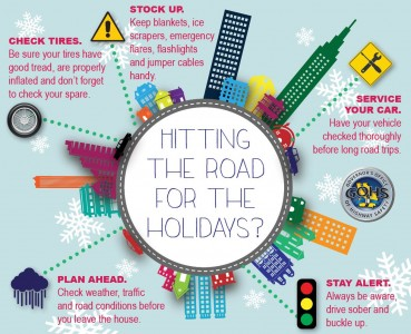 Holiday Travel Safety Infographic