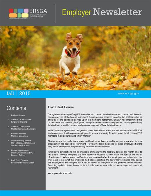 ers fall 2015 employer newsletter team georgia