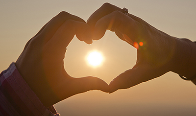 Ft Mtn heart at sunset