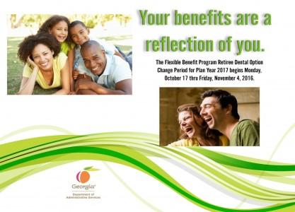 Retiree Dental Option Change Period Postcard for 2017 (v2